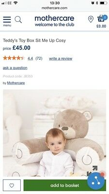 Teddy's Toy Box Sit Me Up Cosy Playmat Mothercare