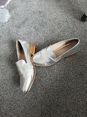 Silver Next loafers size 4