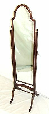 Superb Reprodux Bevan Funnell Mahogany Framed Cheval Mirror / Dressing Mirror
