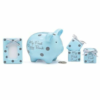 New Burton & Burton Gift Set Baby Boy Polka Dots Set