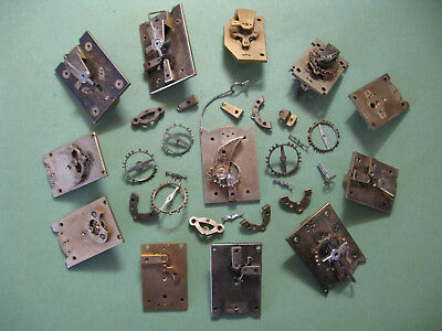 Jewelled Lever Platform Parts From French Carriage Clocks For Spares Only.