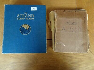 2 X Stamp Albums World Wide approx 1,900 stamps. (1)
