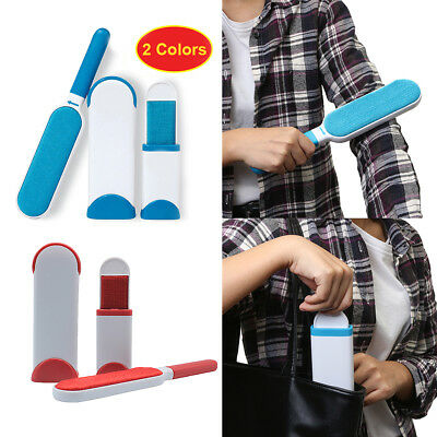 Pet Fur Lint Remover Wizard Travel Cleaner Brusher Home Cleaning Brush Red Blue