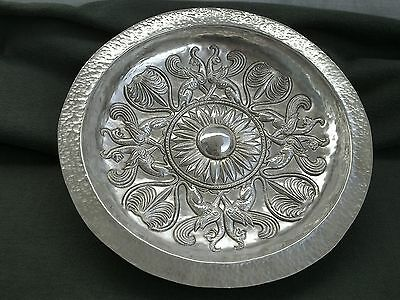 Shallow dish griffins Thracian ritual bowl wine copper silver plated