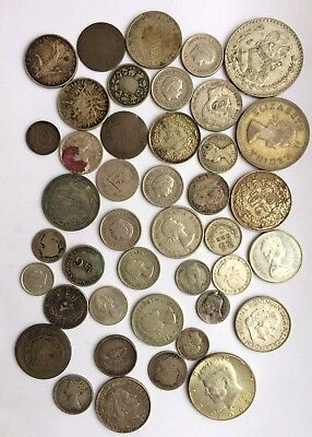 World Lots Of Silver Coins