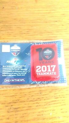 2017 NFL Fan Pass Ltd ED Pin Badge London 10 Years