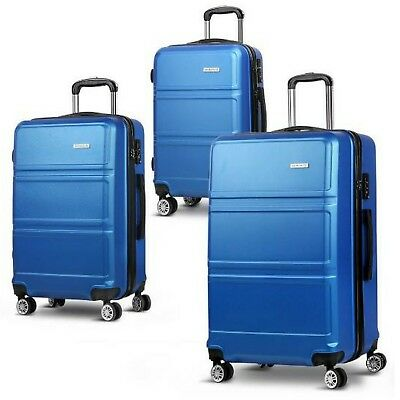 Wanderlite Luggage Suitcase Trolley 3 Set Hard Case Travel Lightweight Cabin Bag