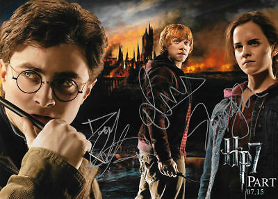 Harry Potter Cast Autographed 8 X 10 Photo RP