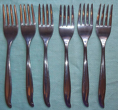 IS Stainless Steel TRADEWINDS-JAMAICA Six Salad Forks