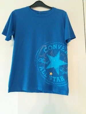 Converse All Star t shirt blue age 10 to 12 years