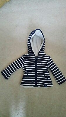 Brand new Joules 0-3 months zipped reversible hooded jumper