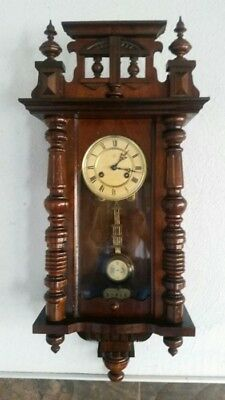 Beautiful Antique Junghans Wall Clock from 1880 Working Wooden
