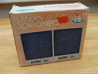 Vintage Altai Micro Speakers  Stereo Extension Speakers (Boxed) For Sony Walkman
