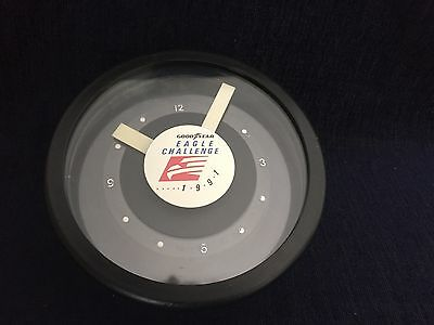 Goodyear Desk Clock Eagle Challenge 1991 Quartz