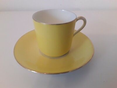 Rare Theodore Haviland Limoges France Coffee cup and Saucer c1925