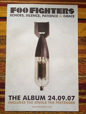 Foo Fighters -Echoes, Silence Patience & Grace- Rare Original Uk Promo Poster