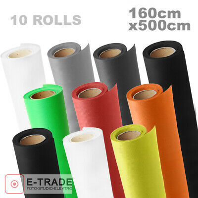 BACKDROP 1.6m x 5m with tube - MANY COLORS - Photo Studio Background Backdrops