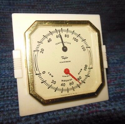 Vintage TAYLOR HUMIDIGUIDE Humidity & Temperature Bakelite Frame Excellent Cond.