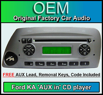Ford Ka Aux In Cd Player Silver Ka  Aux Car Stereo Radio Removal
