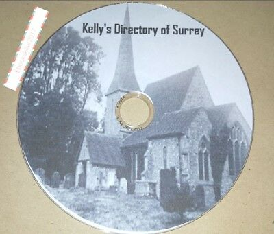 Kelly's Directory of Surrey 1 Volumes transferred from original books to Pdf