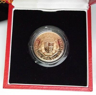 1989 Gold Proof Double Sovereign - 500Th Anniversary Tudor Rose  - Two Pounds