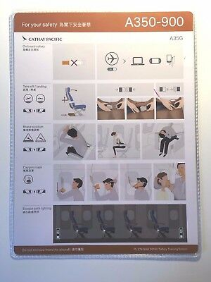 Safety Card Cathay Pacific A350-900 XWB Airbus