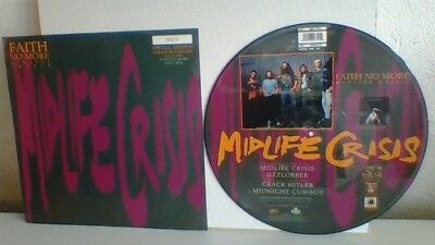 """Faith No More Midlife Crisis 12"""" Picture Disc Vinyl Record.  Special Edition"""