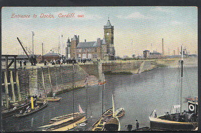 Wales Postcard - Entrance To Docks, Cardiff    RS5114