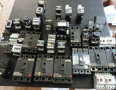 Misc Lot of 34 GE Circuit Breakers + TEB132050,CL02,D25,CR7CA,CR7XR22,CR3CLA ++