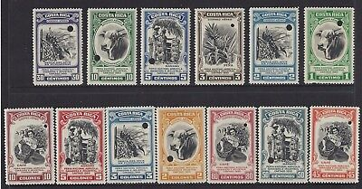 Costa Rica (G322) National Agricultural Fair Cartago, Proofs Mint 1950