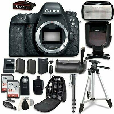Canon EOS 6D Mark II Camera Bundle (Body Only) + Professional Accessory Bundle