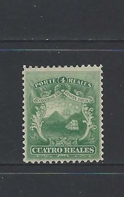 COSTA RICA (G38) COAT of ARMS CUATRO REAL  Sc 3 MH OG 1863