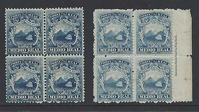 COSTA RICA (G35) COAT of ARMS MEDIO REAL BLOCK Sc 1,1a MNH 1863
