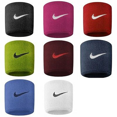 Nike Swoosh Sports  Wristbands Set Of 2 Tennis Football Running Badminton Gym