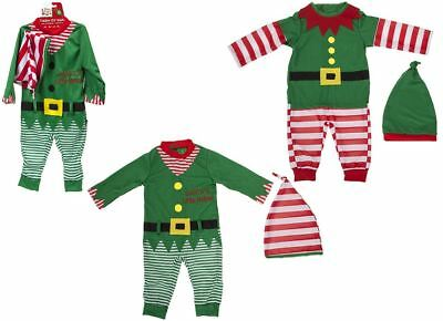 Baby Toddler Christmas Playsuit Elf Santa Baby Helper & Elf Outfit Xmas Costume