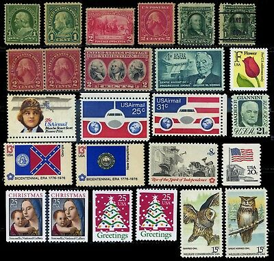 United States, 24 mostly unmounted mint stamps
