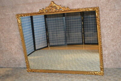 Vintage Rococo Style Burnished Gold Wall Mirror