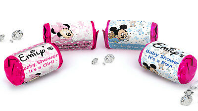 Personalised Baby Shower Love Hearts Sweet Mickey or Mini Mouse Party Favours