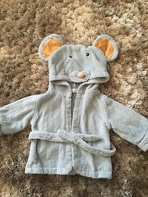 6-9 Months Mouse Towelling Dressing Gown
