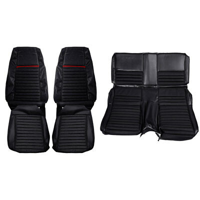Mustang Upholstery Full Set Black With Red Mach 1 Fastback 70