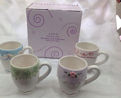 "AVON President""s Club Birthday Gift collection CELEBRATION MUGS - NIB"
