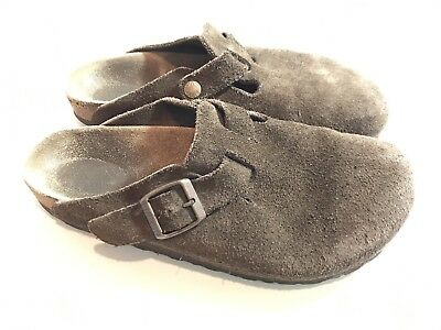 Birkenstock Slip On Shoes Size 39 Brown Suede Leather Mules Women's 8 9