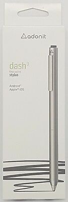 Adonit Dash 3 Fine Point Precision Stylus for iPad iPhone & Android Silver PL
