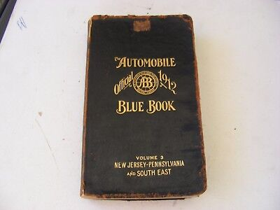 1912 Official Automobile Blue Book Loaded with Ads & Maps NJ, PA & Southeast