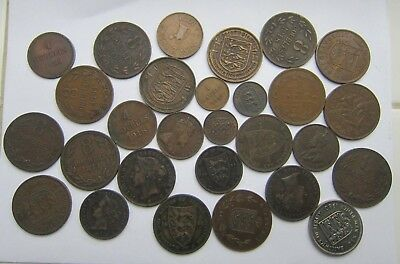 Guernsey & Jersey Lots Of Coins