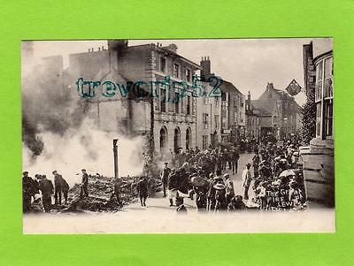 Great Fire at Lewes unused old pc Mezzotint  Ref B899