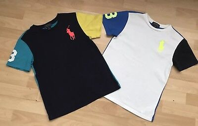 Two Boys Ralph Lauren T-Shirts US Size s (8) UK 6-7 Years