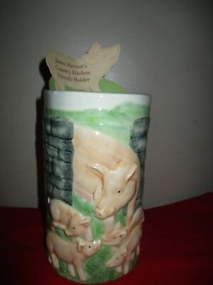 James Herriot's Country Kitchen Pig  Utensil Holder 2003, A2071 Unused