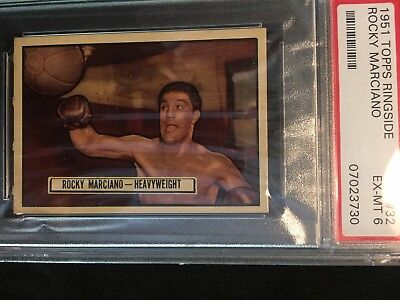 ROCKY MARCIANO 1951 TOPPS RINGSIDE ROOKIE CARD ( PSA EX-MT 6 ) great centering