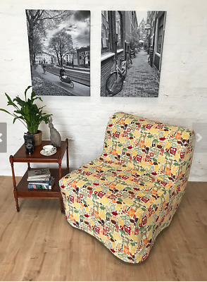 Ikea Lycksele Chair SLIP COVER Enchanted forrest fabric  by Hipica Interiors